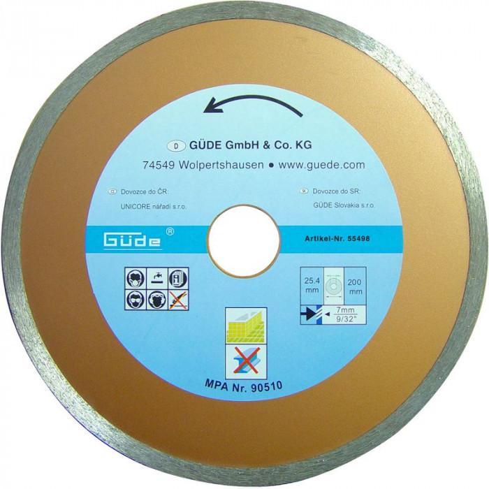 Guede Disque diamant 200 mm - Pour scie coupe carreaux G55374