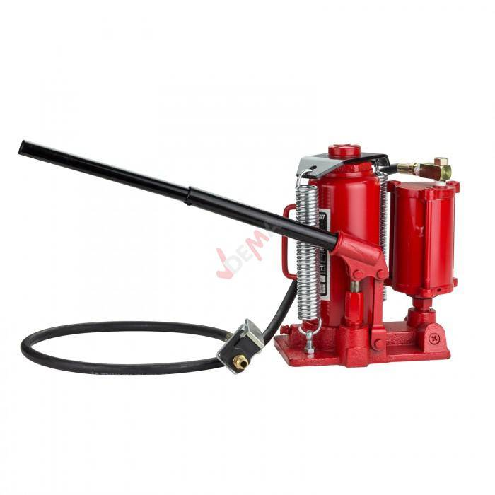 Dema Cric Hydraulique ET pneumatique - 12 Tonnes - Hauteur maxi 460 mm