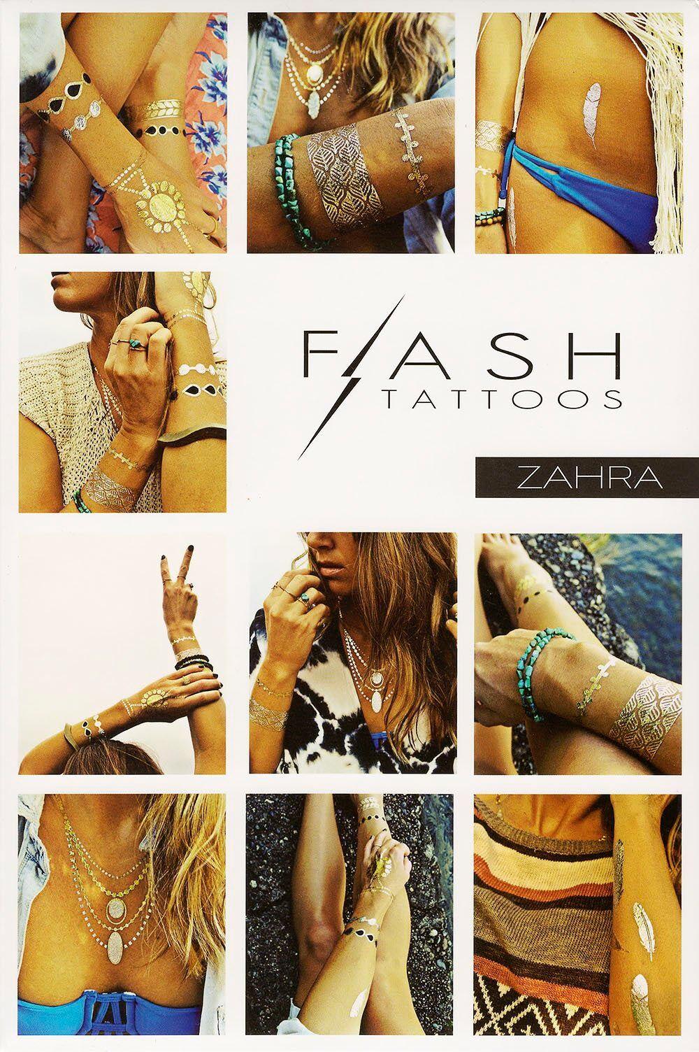 Tatouages éphémères Flash Tattoos (Zahra)