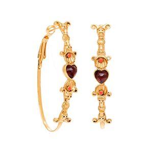 Jollia Créoles ovales coeur (plaqué or) - LA2L - Publicité