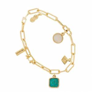 Be Maad Bracelet gourmette breloques (turquoise/nacre), Be Maad Be Maad
