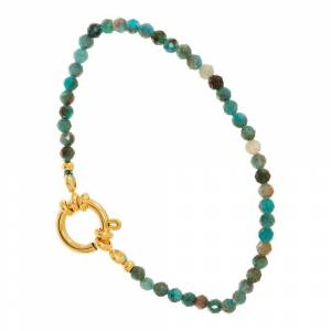 Jollia Bracelet pierres et anneau (apatite) - Siloé - Publicité