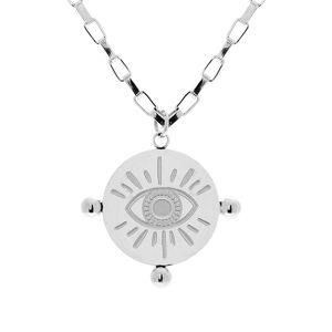 Zag Bijoux Collier chaîne et pendentif oeil (argenté), Zag bijoux  Zag Bijoux