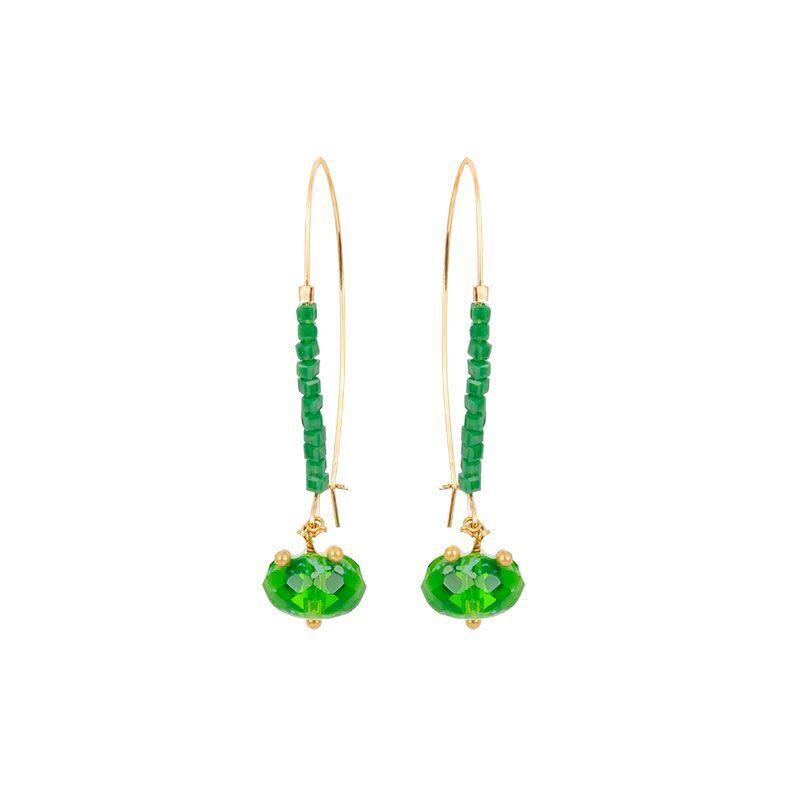 Jollia Boucles d'oreilles dormeuses boule (vert) - Julie Sion