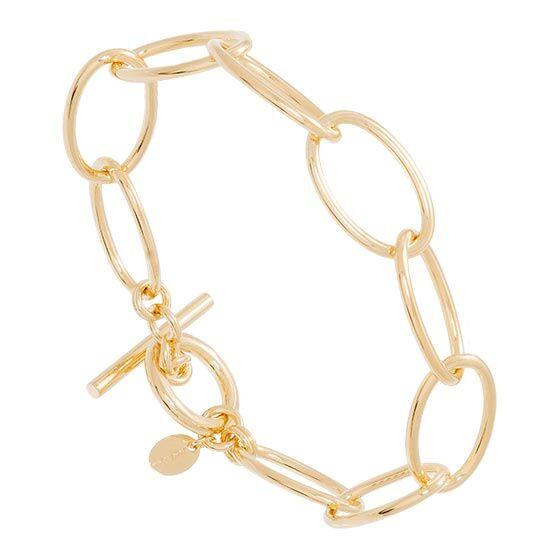 Jollia Bracelet gros maillons ovales (doré) - Une A Une