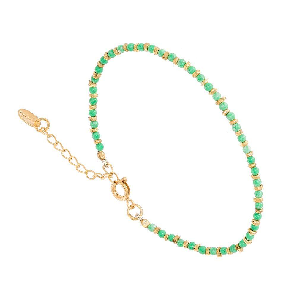 Jollia Bracelet pierres fines (chrysoprase) - Une A Une