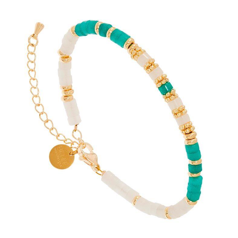 Jollia Bracelet surfeur pierres (amazonite/jade blanc) - Belle mais pas que
