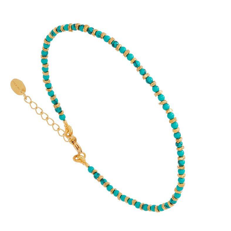Jollia Bracelet pierres fines (turquoise) - Une A Une