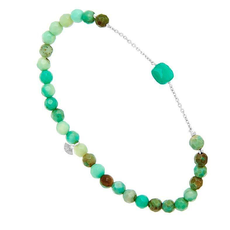 Jollia Bracelet briolette (quartz vert et chrysoprase - Senzou