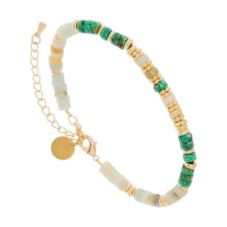 Jollia Bracelet surfeur pierres (turquoise africaine/amazonite) - Belle mais pas que