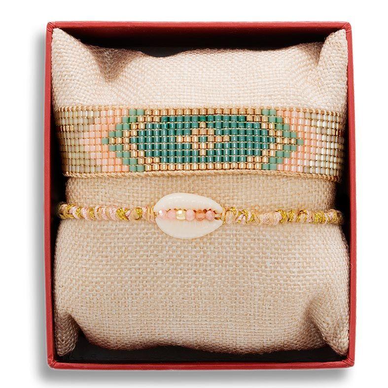 Jollia Coffret de bracelets copacabana (rose) - Belle mais pas que