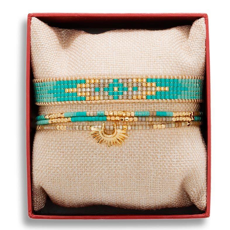 Jollia Coffret de bracelets tropical blue summer (turquoise) - Belle mais pas que
