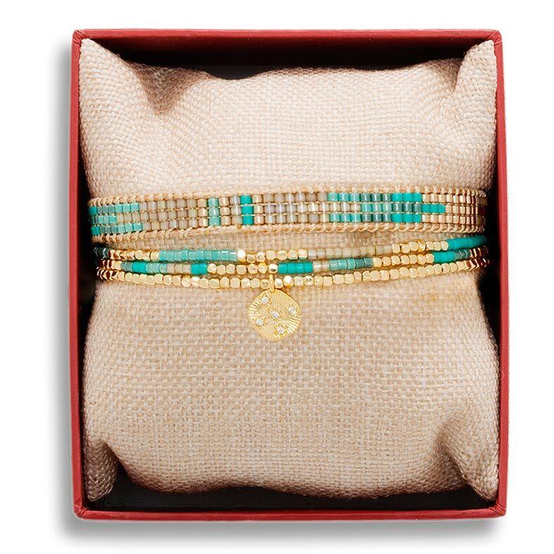 Jollia Coffret de bracelets blue accapulco (turquoise) - Belle mais pas que