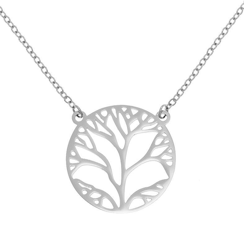 Jollia Collier arbre de vie (argenté) - Zag Bijoux