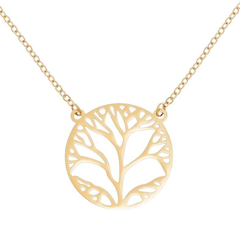 Jollia Collier arbre de vie (doré) - Zag Bijoux