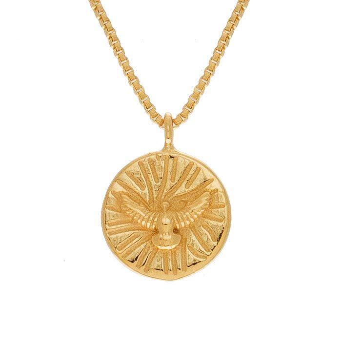 Jollia Collier médaille aigle (doré) - Une A Une