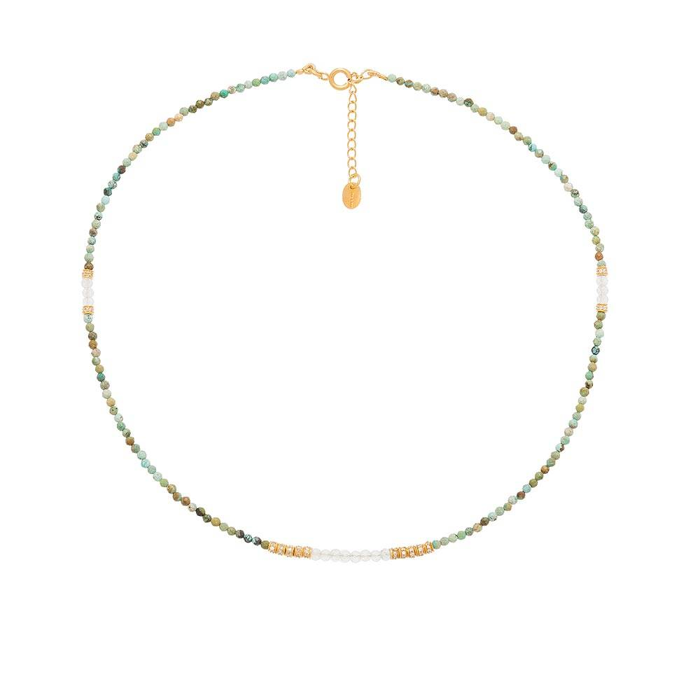 Jollia Collier multi pierres et zircons (turquoise) - Une A Une
