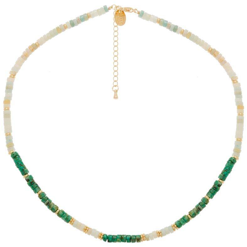 Jollia Collier surfeur pierres (turquoise africaine/amazonite) - Belle mais pas que