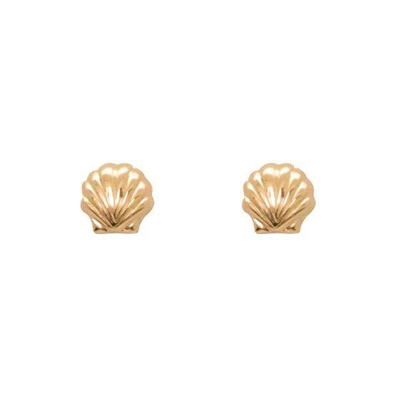 Jollia Puces d'oreilles coquillage (dore) - Aurélie Joliff