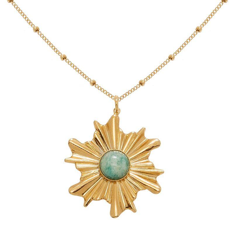 Jollia Sautoir étoile chaine bille (amazonite) - Viadoli