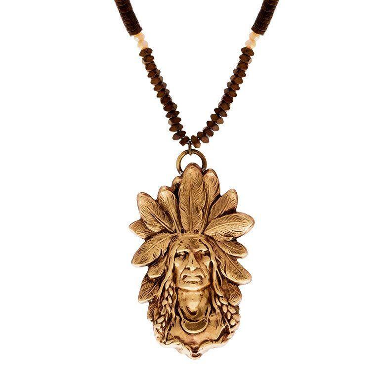 Jollia Sautoir indien (doré/hématite) - Tungstene