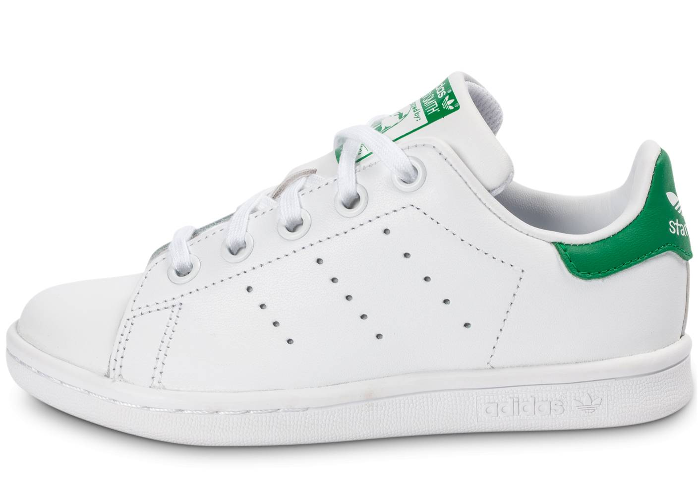adidas Baskets adidas Stan Smith Enfant Blanc Vert 35