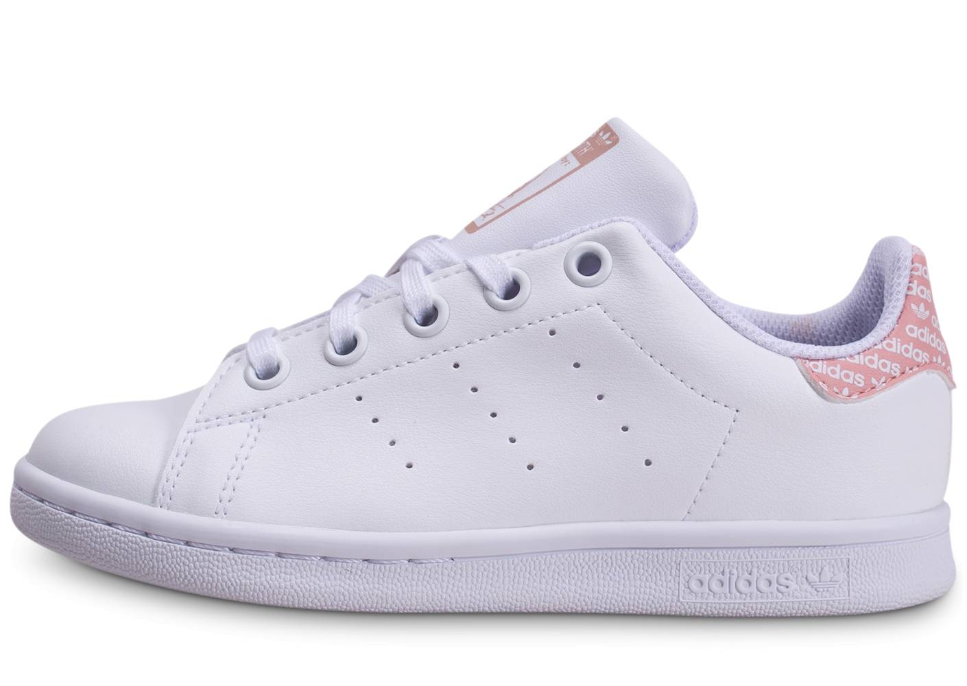 adidas Tennis adidas Stan Smith Mono Blanche Et Rose Enfant 35