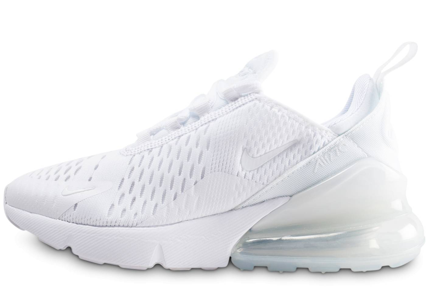 Nike Enfant Air Max 270 Blanche Et Argent Junior Baskets 35 1/2