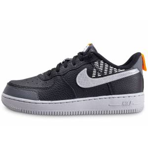 Nike Baskets Nike Air Force 1 Under Construction Noire Enfant 32 - Publicité