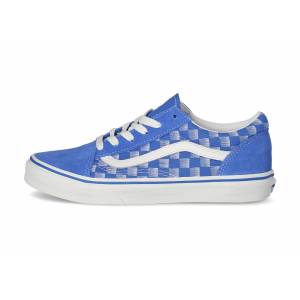 Vans Enfant Racers Edge Old Skool Junior Bleu Et Blanc Skate 38 - Publicité