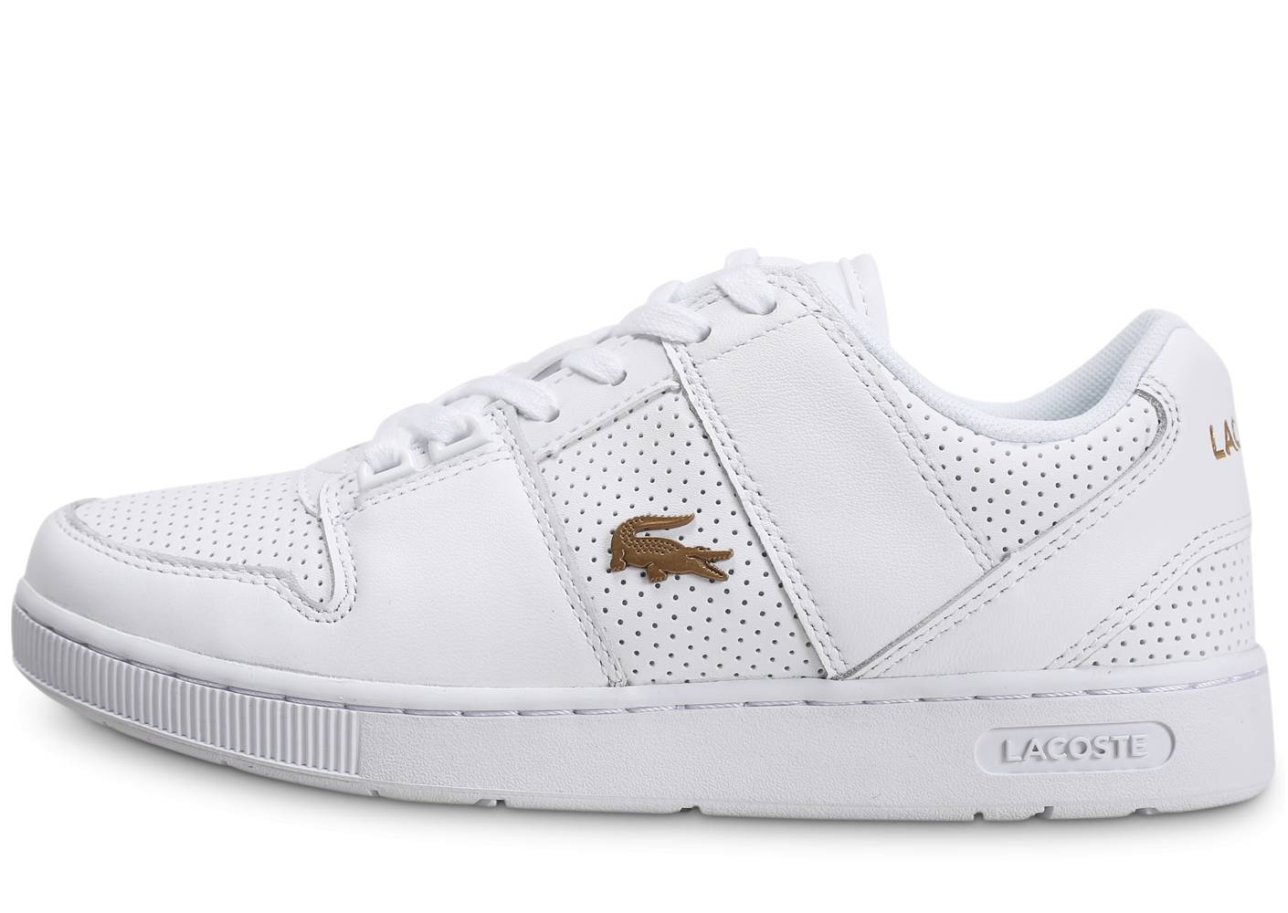 Lacoste Tennis Lacoste Thrill Blanc Or Femme 36