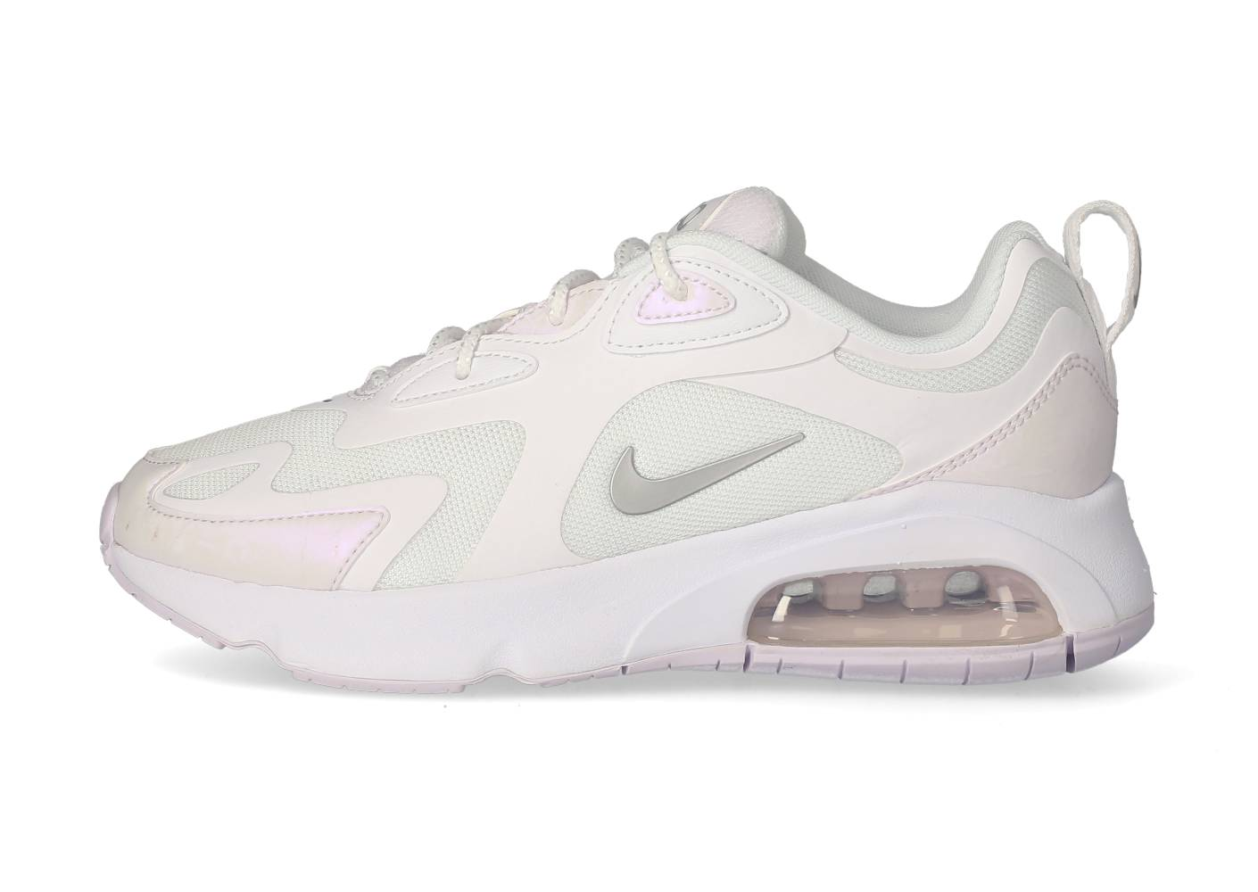 Nike Running Nike Air Max 200 Blanche Et Argent Femme 38