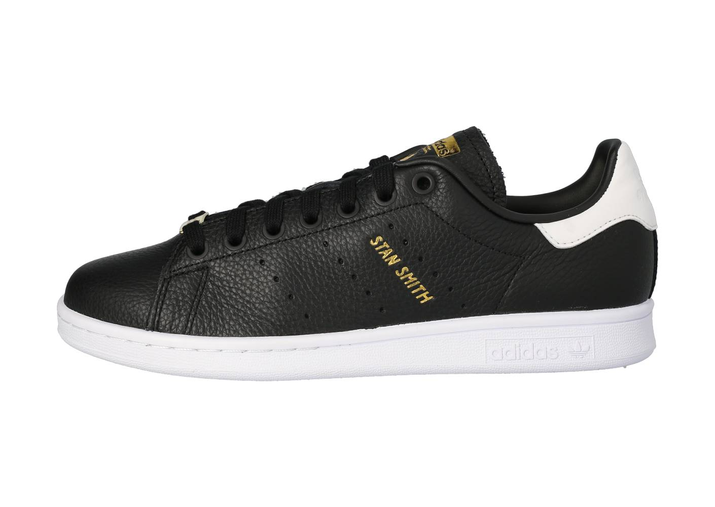 adidas Homme Stan Smith Noire Blanche Et Or Tennis 41 1/3