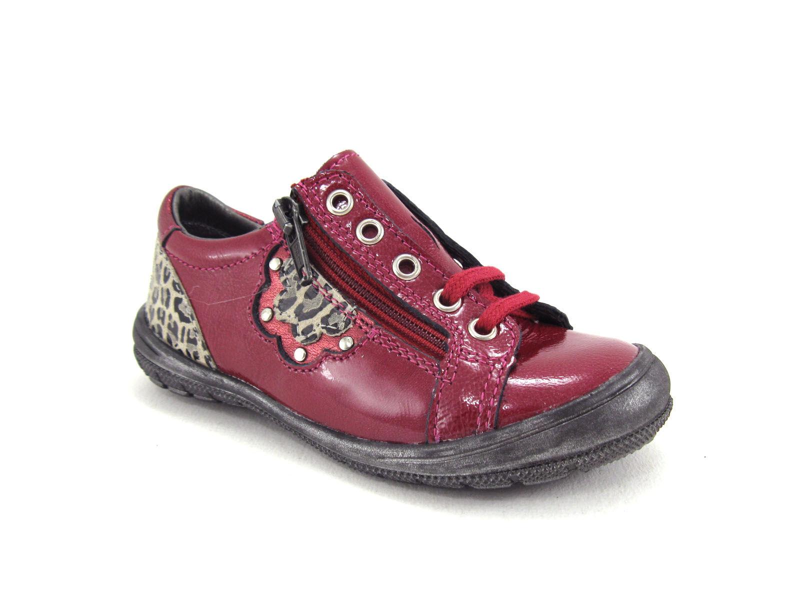 Bopy Chaussure Bébé Bopy - Beige,Bordeaux,Gris,Rose - Point. 24,25,26,27,28,29,30,31,32,33,34