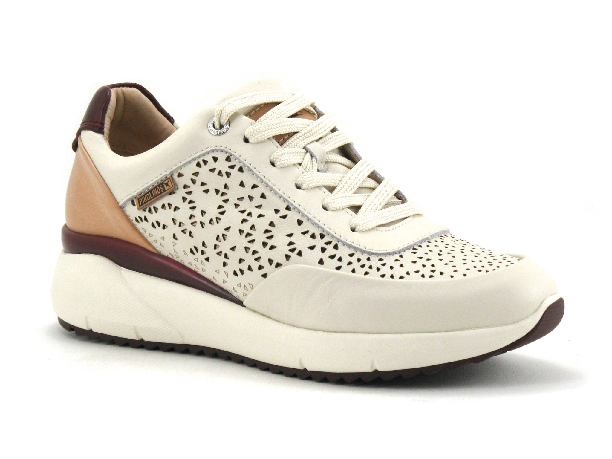 Pikolinos Basket Femme Pikolinos - Beige,Blanc,Bordeaux - Point. 36,37,38,39,40