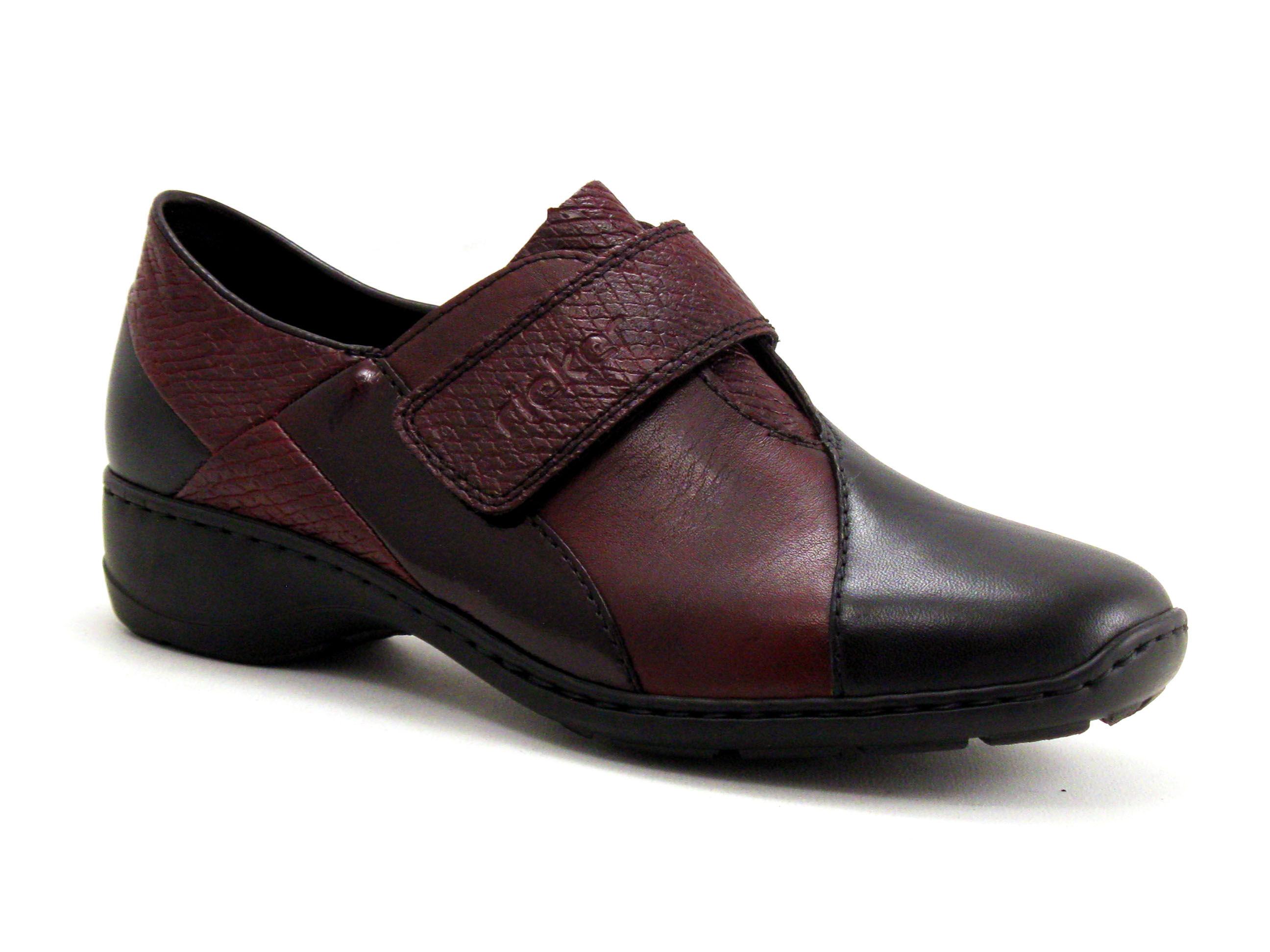 Rieker Chaussure basse / Derby Femme Rieker - Bordeaux,Noir - Point. 36,37,38,39,40,41