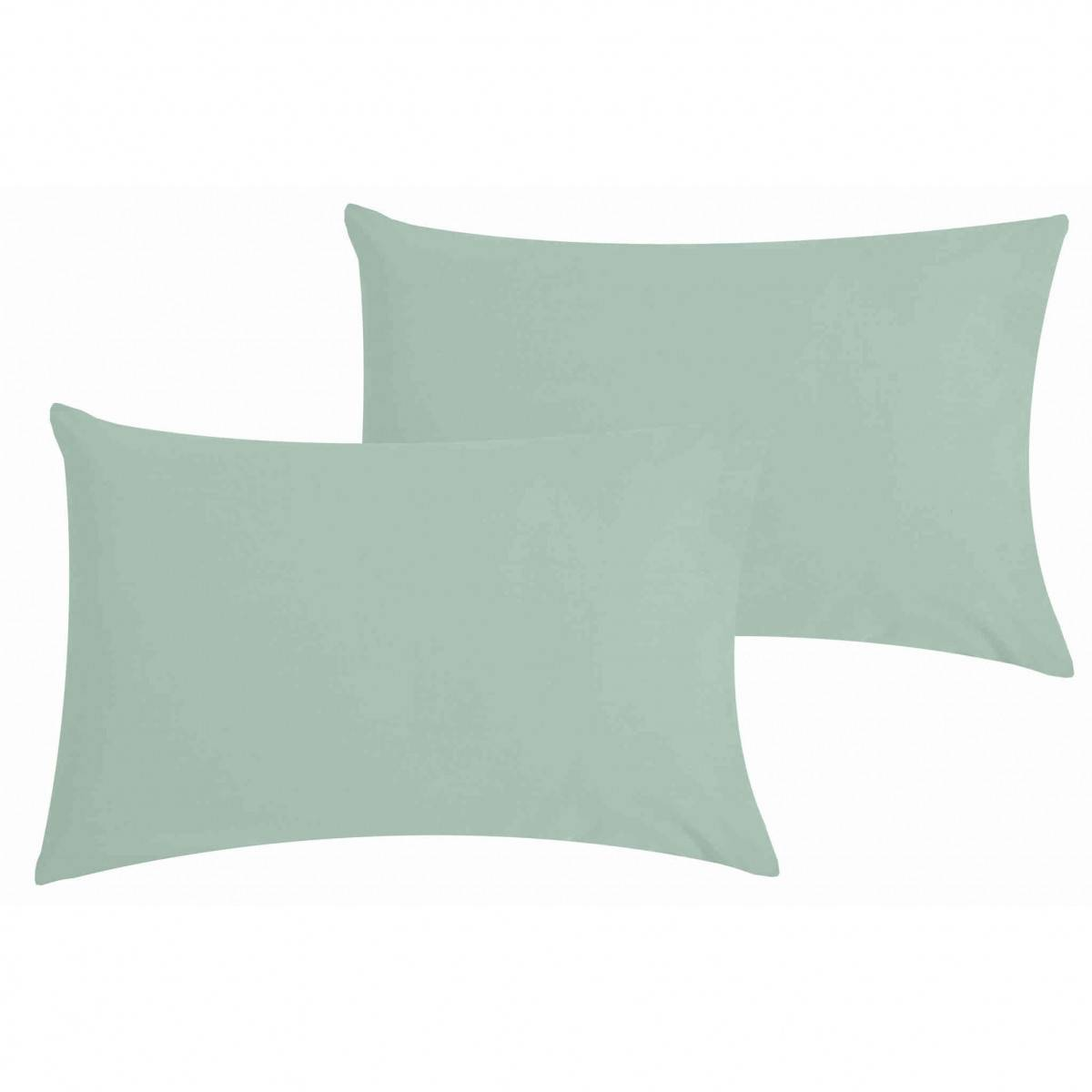 Ptit Basile Lot de 2 taies d'oreiller bébé coton bio vert d'eau 40x60