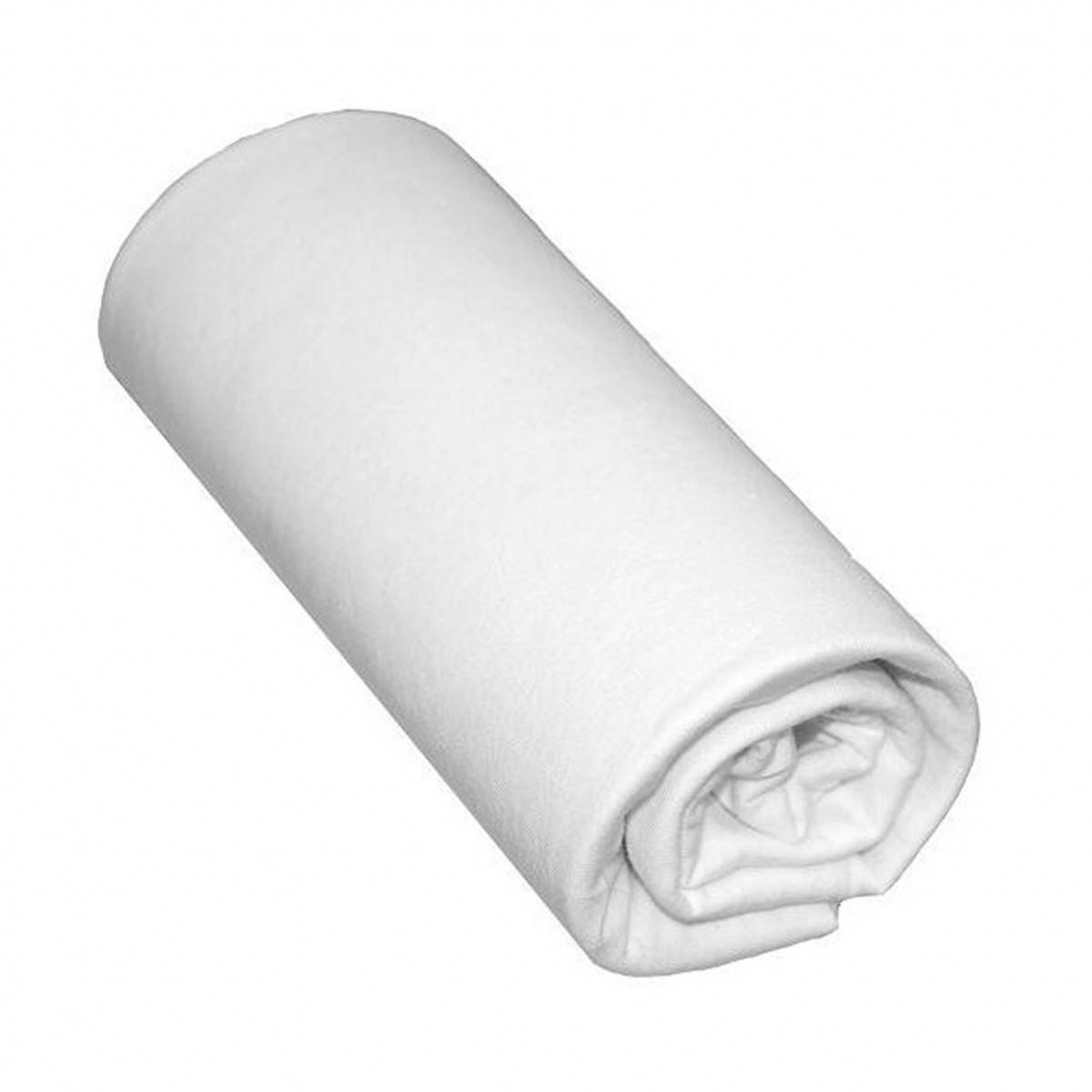 Terre de Nuit Drap Housse Bébé 100% Coton Blanc 60x140 - Bonnet 15 cm