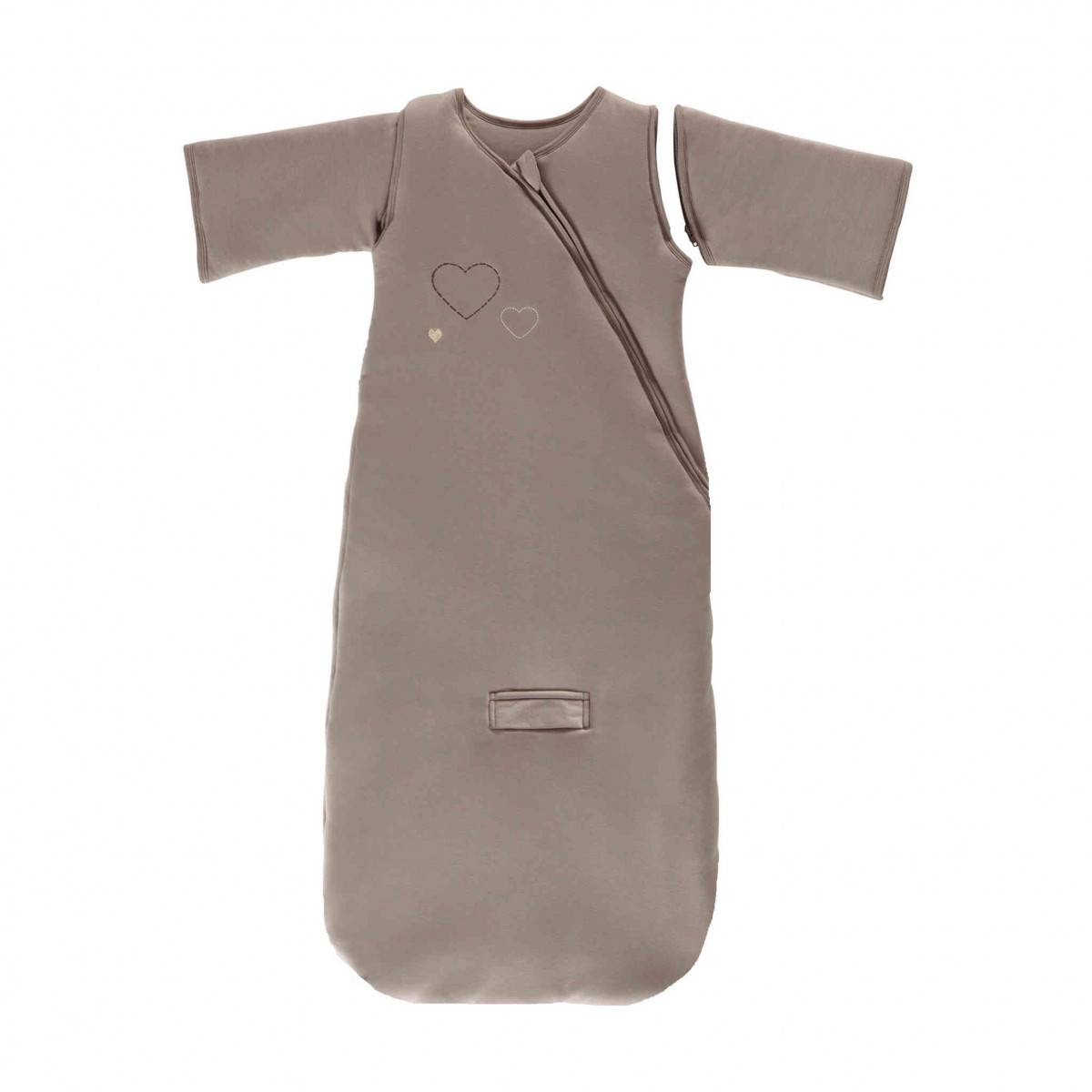 Ptit Basile Gigoteuse bébé hiver coton bio 3 en 1 chocolat - 6/24 mois