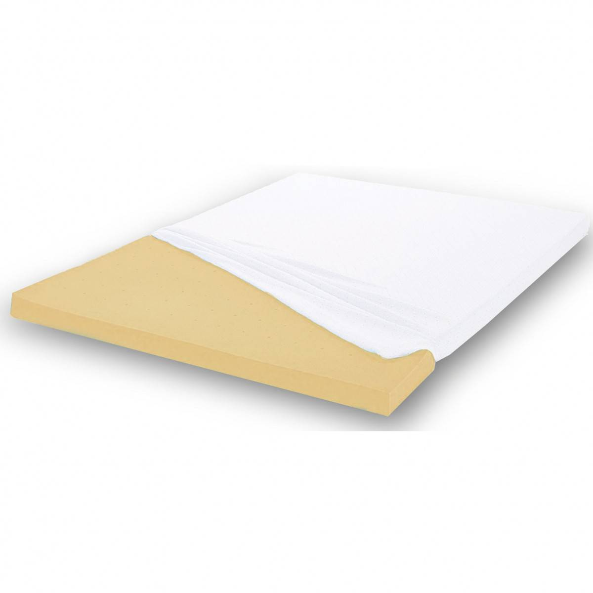 Terre de Nuit Housse surmatelas jersey blanc 100% coton extensible 70x190