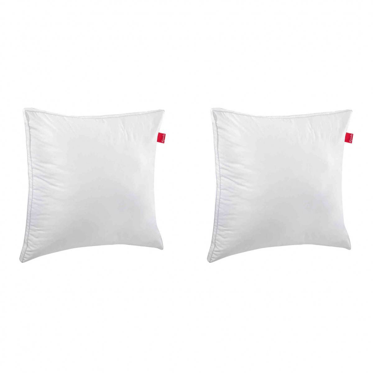 Epeda Lot de 2 oreillers EPEDA Aloe confort moelleux anti-acariens 65x65
