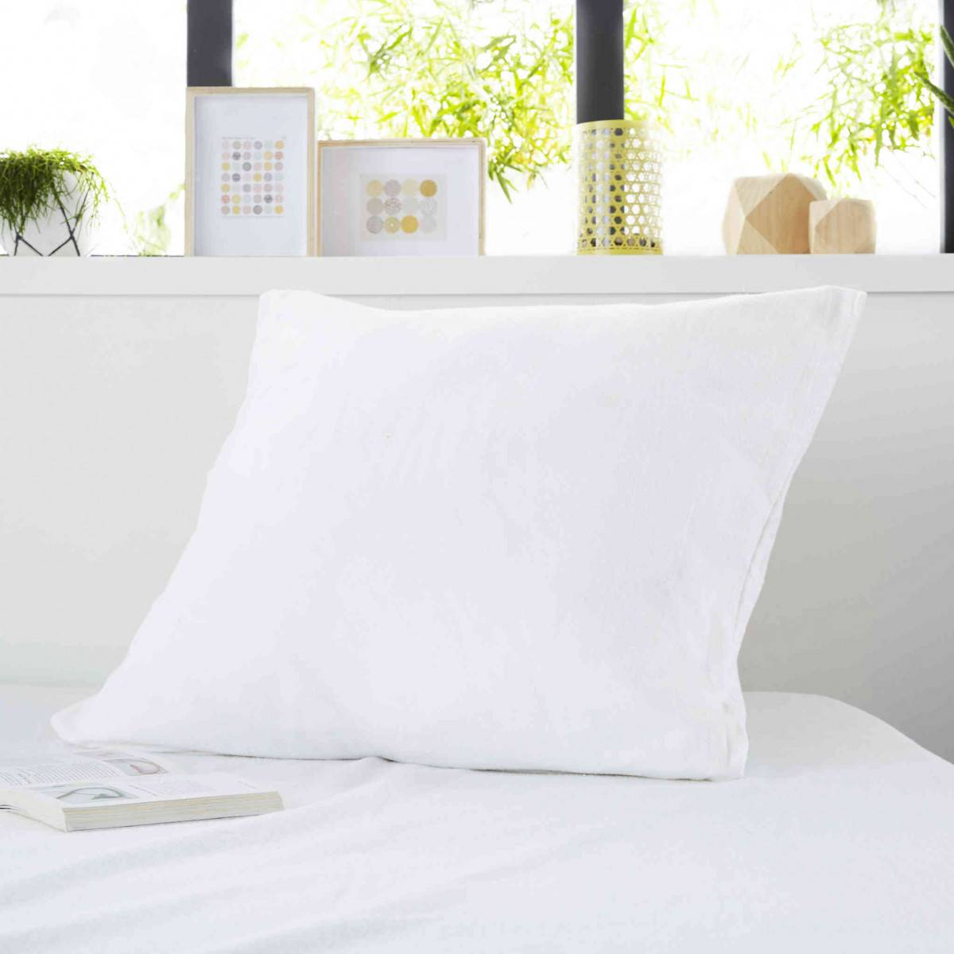 SweetNight Protège oreiller anti-acariens imperméable molleton 100% coton 65x65