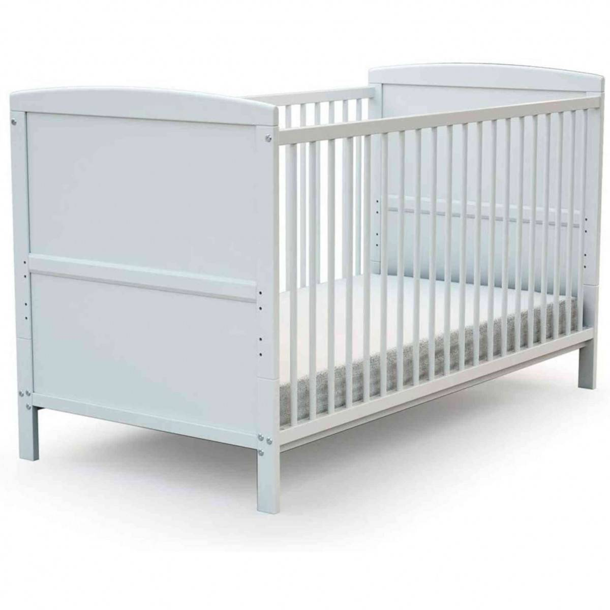 AT4 Lit bébé évolutif en bois blanc 70x140