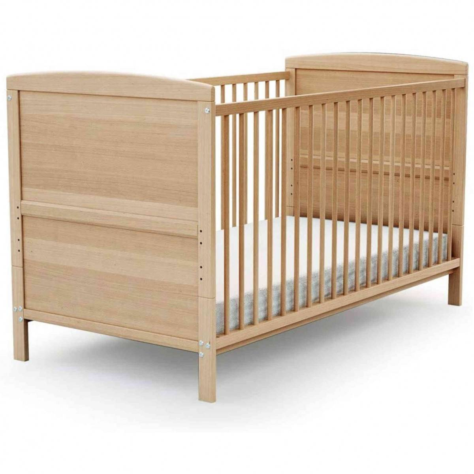 AT4 Lit bébé évolutif en bois verni 70x140