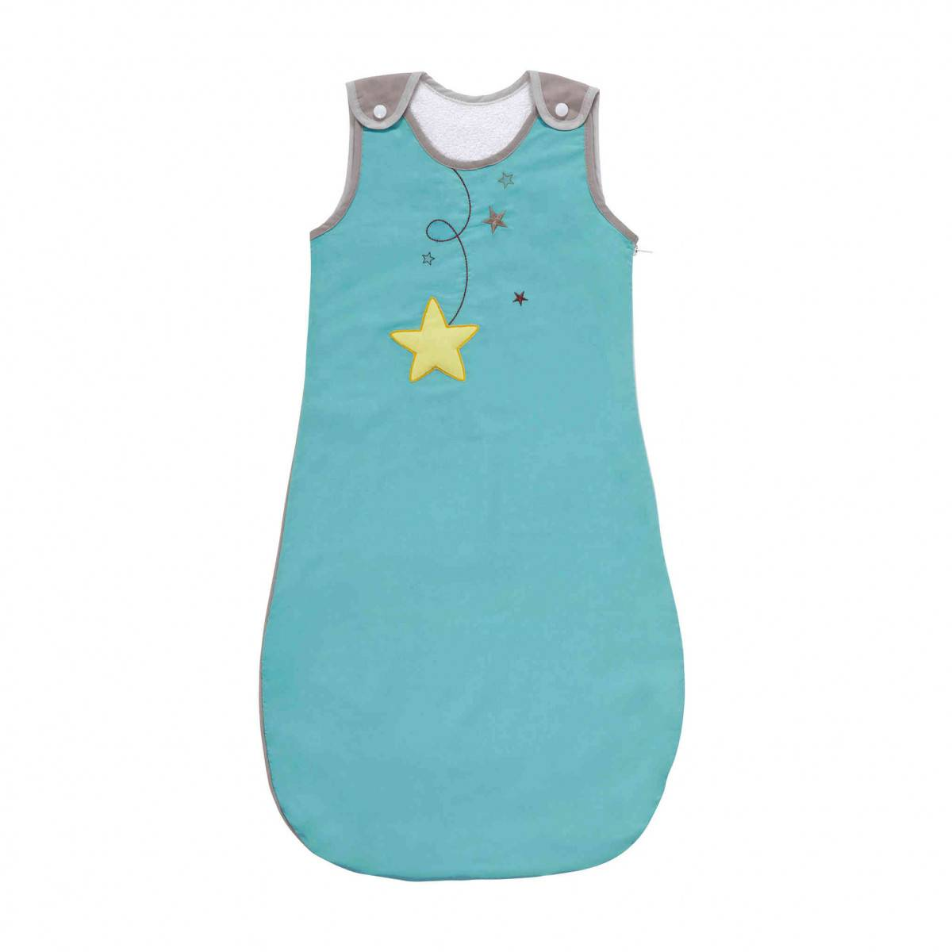 Ptit Basile Gigoteuse bébé été jersey bio bleu turquoise - 6/24 mois
