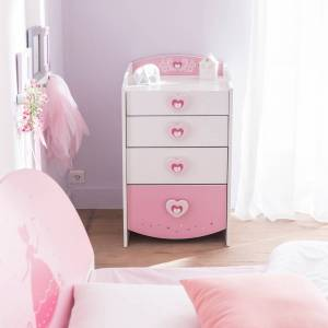 Terre de Nuit Commode féerie rose et blanc perle CO125 - Publicité