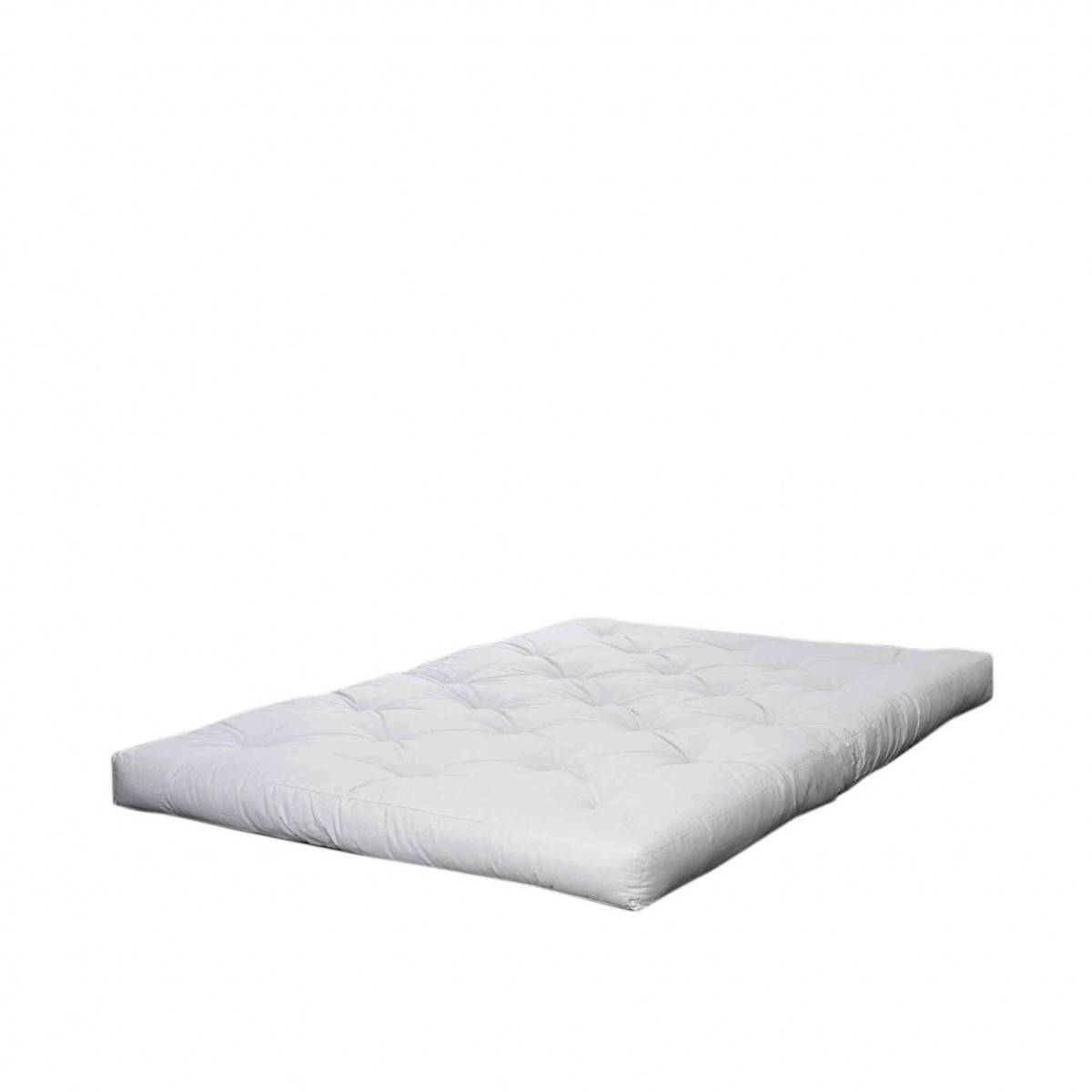 Karup Design Matelas futon ecru 18 cm double coeur en latex 90x200 en latex