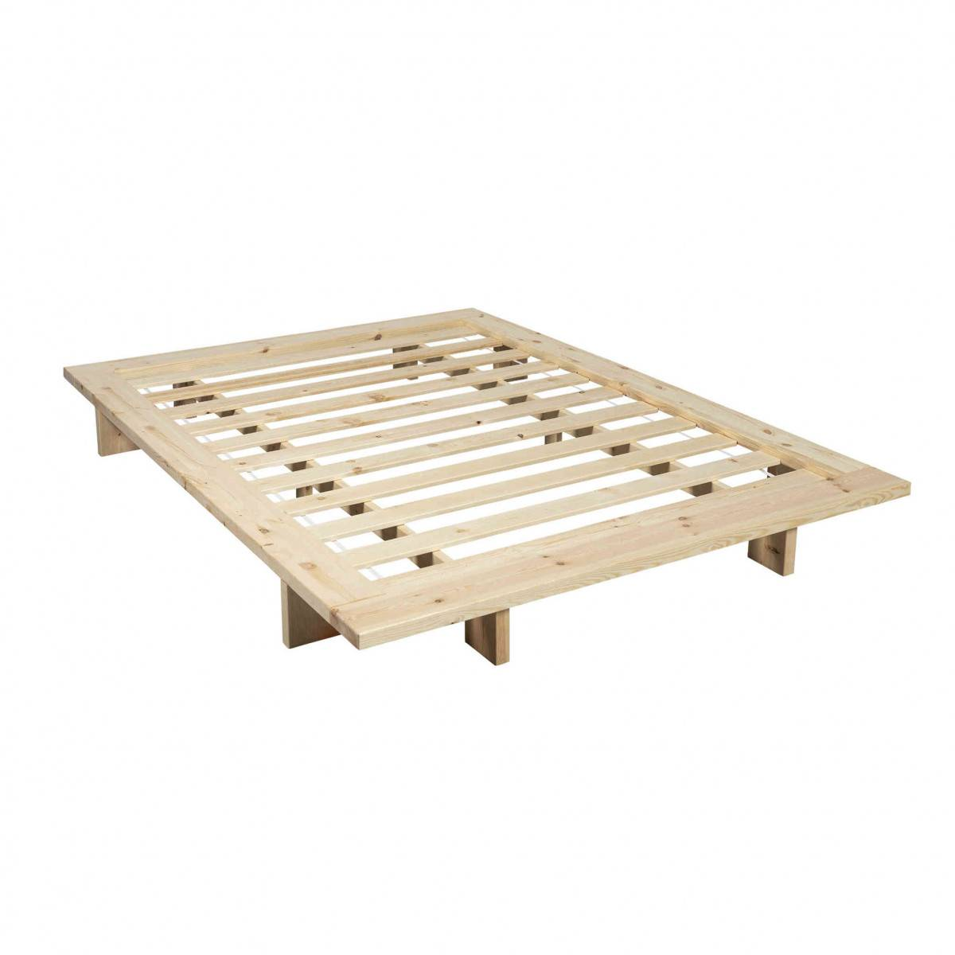 Terre de Nuit Structure futon japan en bois naturel 160x200 - Terre de Nuit