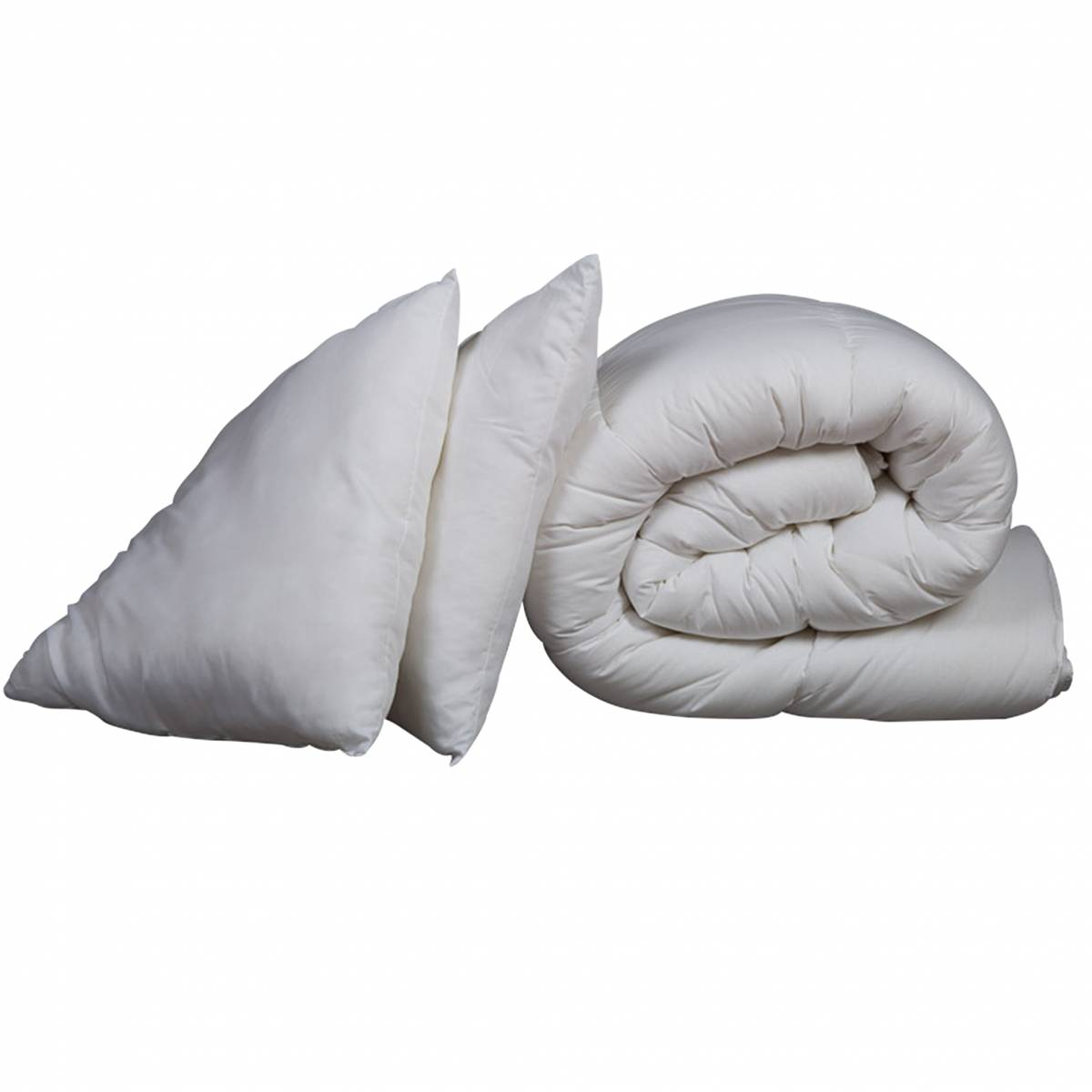 Someo Pack couette hiver 600g 260x240 et oreiller luxe anti-acariens SOMEO