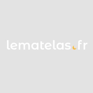 Terre de Nuit Chevet 2 tiroirs imitation chêne brosse/blanc CH129 - Publicité